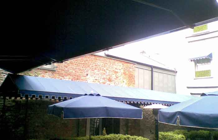 Umbrellas and Walkway Awnings at Langtons of Kilkenny - Canopies and