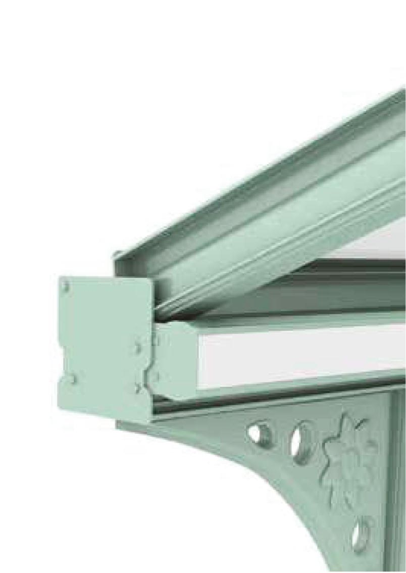 Lean to Glass Roof sisde image from Canopies.ie